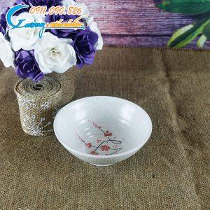 Bát chấm men gấm hoa đào – BDHD21