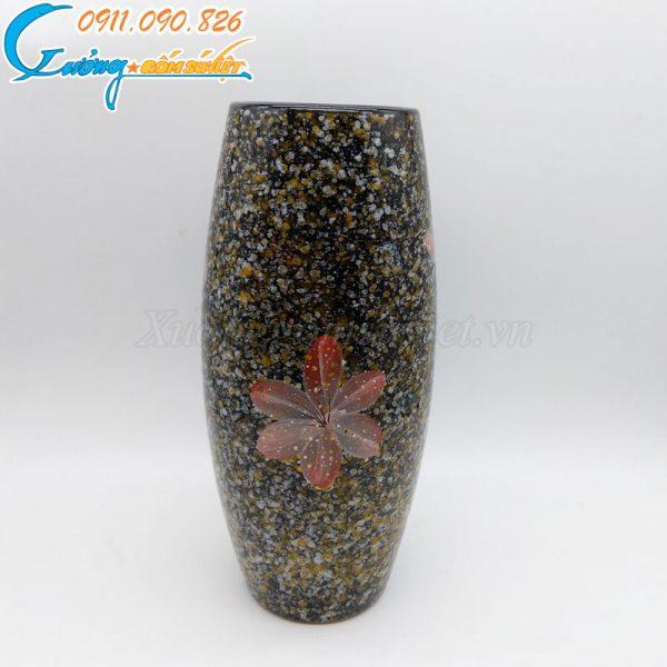 Bình hoa dáng bầu cao giả đá – BH12