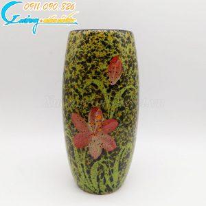 Bình hoa xanh dáng cao hoa đỏ - BH07
