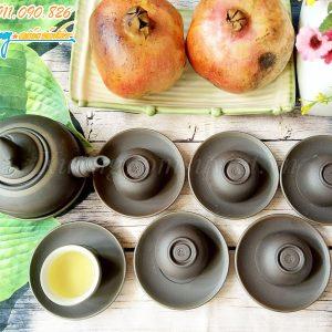 Bộ trà tử sa dáng quả đào – BTS02