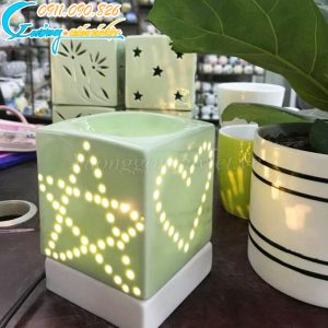 Đèn xông tinh dầu dáng vuông – DX18