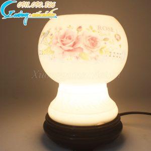 Đèn xông tinh dầu hoa hồng – DX09