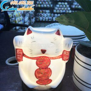 Đèn xông tinh dầu Mèo Thần Tài – DX11