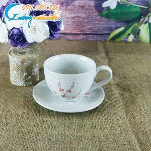 Tách cà phê men gấm hoa đào- BDHD27