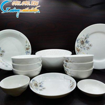Mua bát đĩa sứ trắng đẹp, rẻ ở đâu Hà Nội?