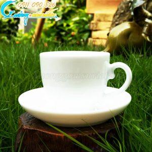 Bộ ấm trà trắng Camellia
