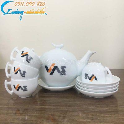 Chuyên cung cấp ấm chén trắng quà tặng Đại hội tỉnh Bình Thuận