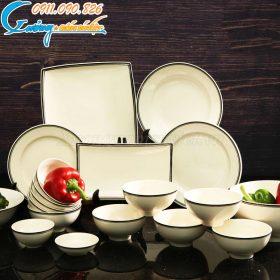 Bộ bát đĩa nhà hàng đơn giản nhẹ nhàng